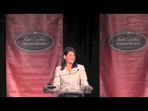 Governor Nikki Haley At SCGOP Silver Elephant Dinner