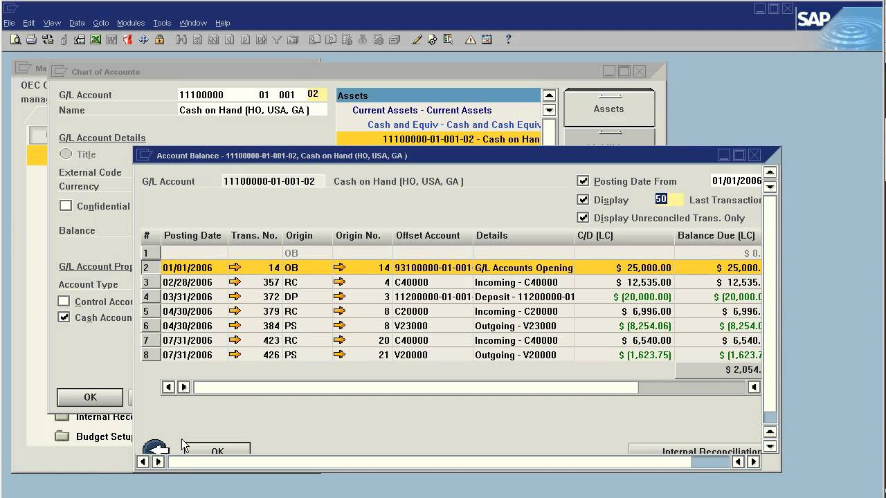 Sap business one how to adjusting your chart of accounts for Level table sap