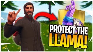PROTECT THE LLAMA! - Fortnite CUSTOM GAME MODE! 2v2 Playgrounds Mode!