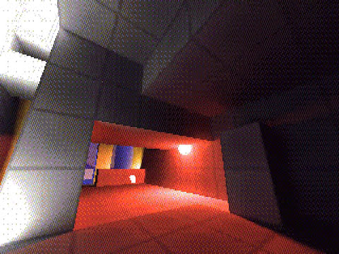 OpenGL programming, simple FPS style walking scene (DOS)