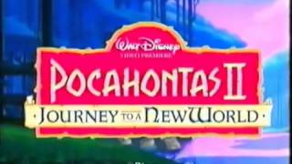 Pocahontas 2: Journey To a New World UK VHS Trailer