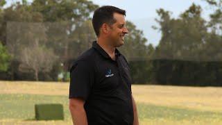 Christian Hamilton and Tony Bennett at the 2018 #AusOpenGolf