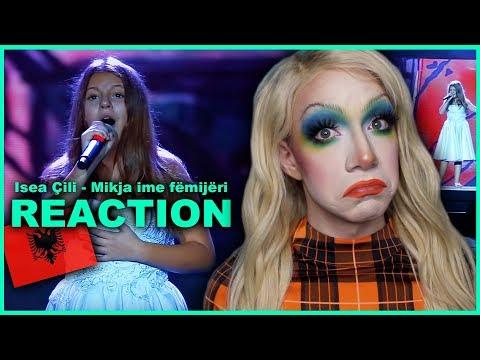 ALBANIA - Isea Çili - Mikja ime fëmijëri | Junior Eurovision 2019 REACTION