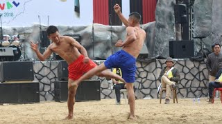 Naga sumi Kungfu kick fight demonstration at Hornbill festival 2018
