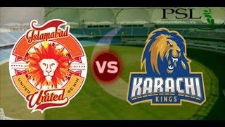 PSL 2017 - Islamabad United VS Karachi Kings - Highlights [ Don Bradman Cricket ]