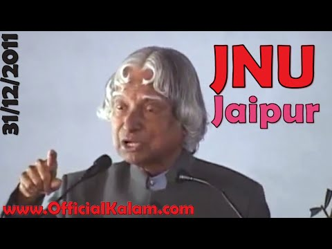 Dr A P J  Abdul Kalam Interacting with Students JNU Jaipur