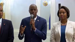 New York: Mission d'haiti a l'ONU accueille president Jovenel Moise