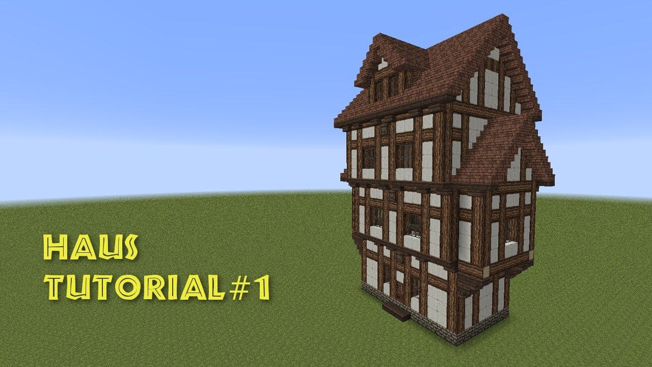 Minecraft tutorial fachwerkhaus wohnhaus build a for Minecraft holzhaus
