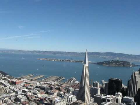 Helo - Buzzing by TransAmerica pyramid - 800 ft up...