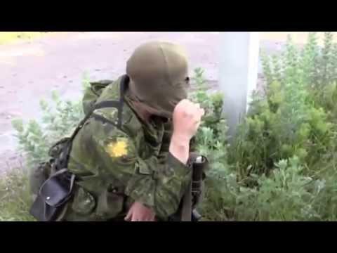 Марьинка - Ополченцы под огнем снайперов ВСУ