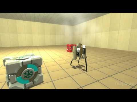 Blue Portals: Turret Demo