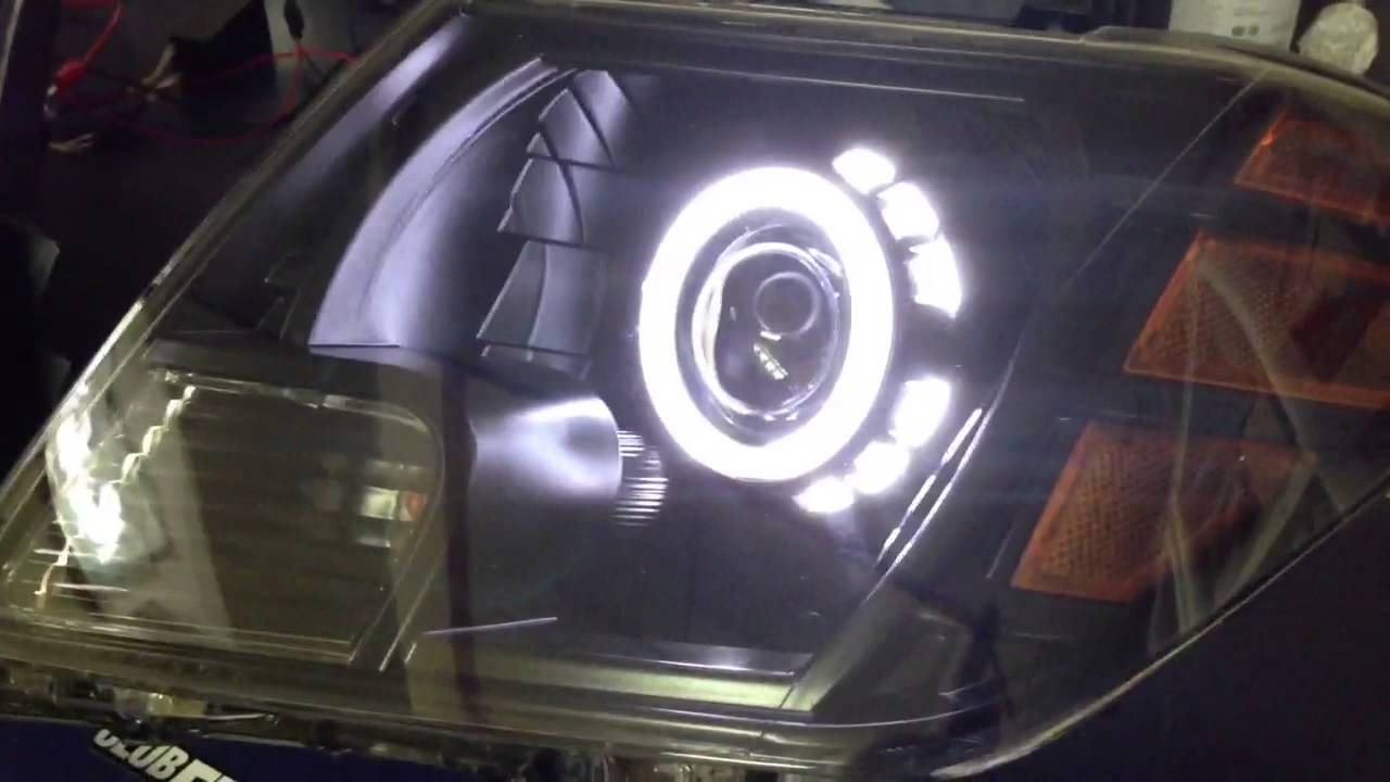 Nissan Frontier Bi-Xenon projector retrofit with MONSTER ...