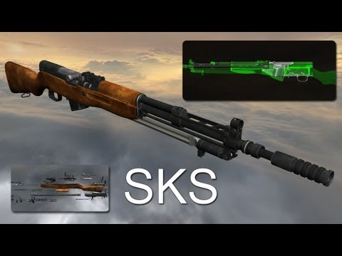 SKS rifle (full disassembly and operation)
