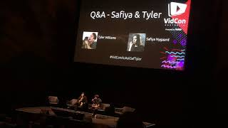 Safiya Nygaard & Tyler Williams Q&A at Vidcon Australia 2018!