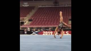 Simone biles triple twisting double back!!!