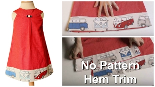 How to attach a wide hem Trim & Making your own Bias Tape