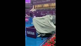 Strycova cruises to second round of Qatar Total Open on a rainy day in Doha