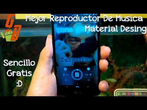 Mejor Reproductor Para Android 2015 - Material Desing - Sencillo Y Gratis ♥