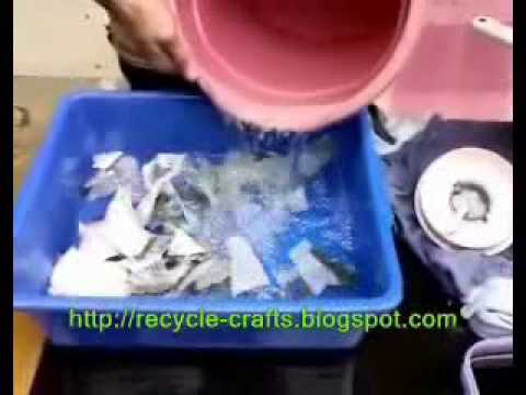 Recycle Paper | Making Paper = http://recycle-crafts.blogspot.com