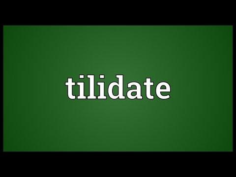 Header of tilidate