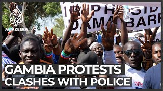 Three dead in protest against Gambian leader Adama Barrow