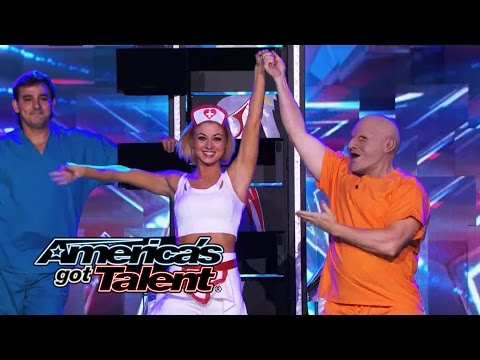 Psycho Jack: Kooky Magician Struggles With Saw Trick - America's Got Talent 2014