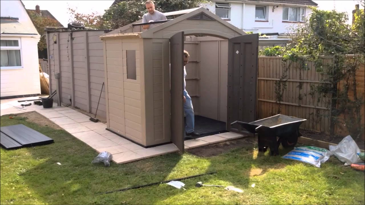 Keter Plastic Shed Construction Timelapsed Video Youtube