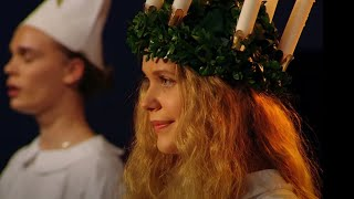 Swedish Lucia KKK -- Scroll Under Vid For Story