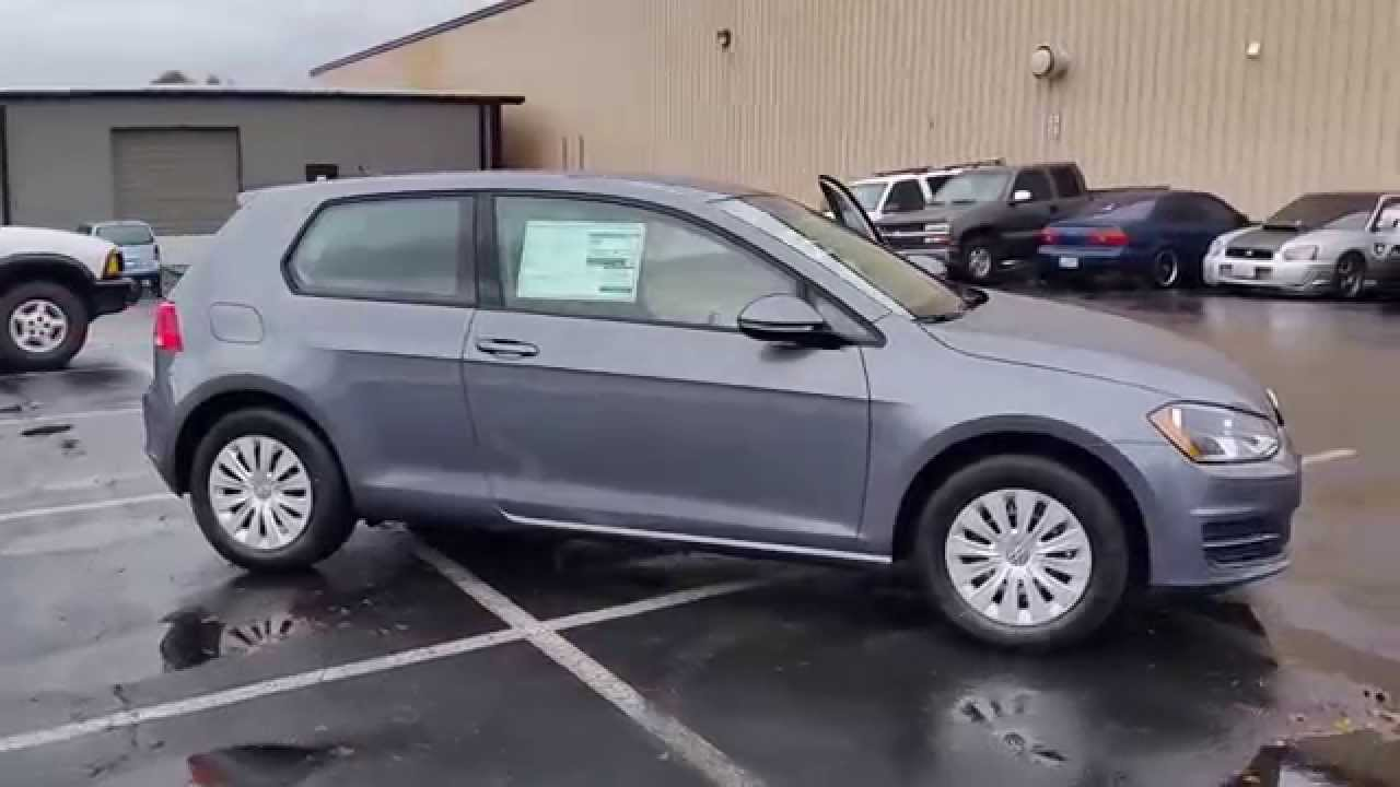 2015 Volkswagen Golf, Platinum Gray Metallic - STOCK# 110163 - Walk around - YouTube