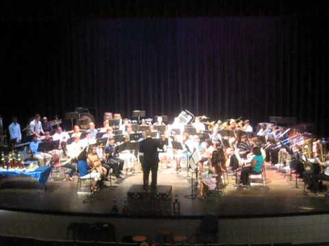Pineville High School Rebels Symphonic Band playing Earth Song...
