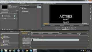 Rolling Credits Tutorial - Adobe Premiere Pro