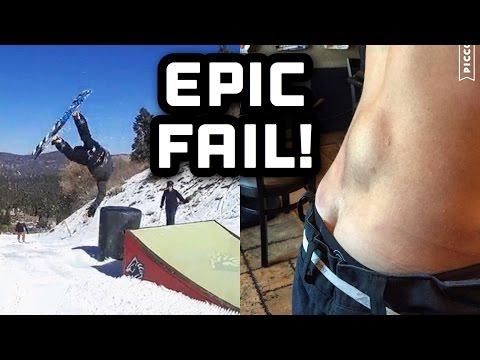 SNOWBOARD FAIL!!!