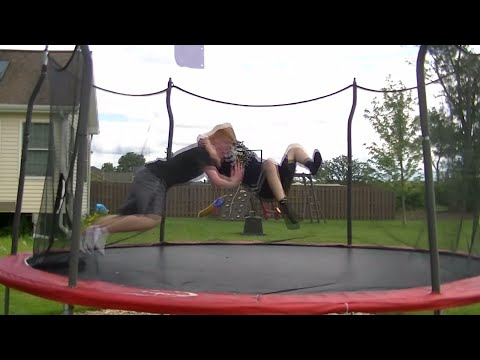 Top 50 Wwe Finishers Of 2014 On Trampoline video