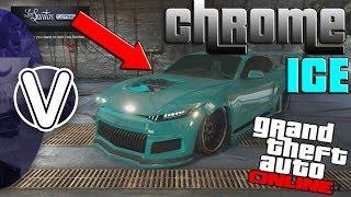 GTA 5 Online | CHROME DOMINATOR GTX Paint Job *Chrome ICE*  (GTA 5 Online Super Sport DLC Vehicles)