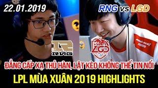 [LPL 2019] RNG vs LGD Game 1 Highlights   Kramer thể hiện đẳng cấp xạ thủ Hàn, lật kèo không tưởng!