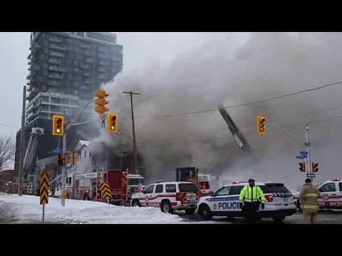 RAW: Highrise fire on Catherine Street near YMCA in Centretown