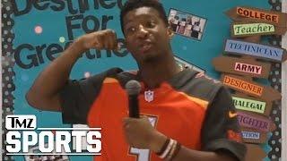 Jameis Winston Speech: Boys Should Be Strong...Girls Should Be SILENT | TMZ Sports