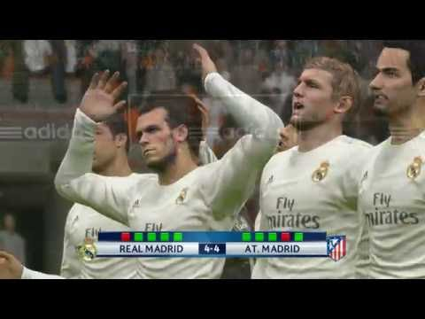 PES 2016 | Real Madrid vs Atletico Madrid Champions League Final (Penalty Shoot out)