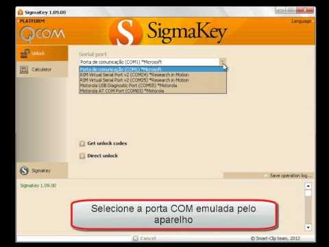 Procedimento de desbloqueio MOTOROLA QUALCOMM - SigmaKey.wmv