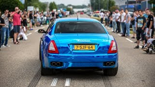 CRAZY LOUD Maserati Quattroporte w/ Custom Straight Pipes - Brutal Revs & Accelerations !