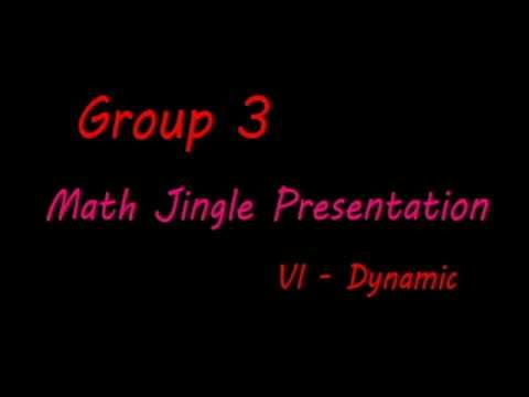 Math Jingle by Group Three (Count on me & Dessert)
