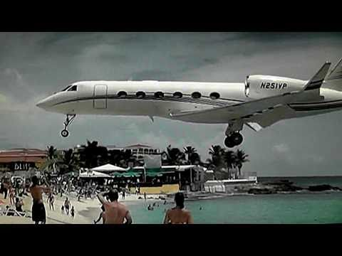 Famous Maho Beach St maarten Princess Juliana Int'l Airport