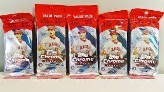 2018 Topps Chrome Baseball 5 Value Pack Break! Awesome!