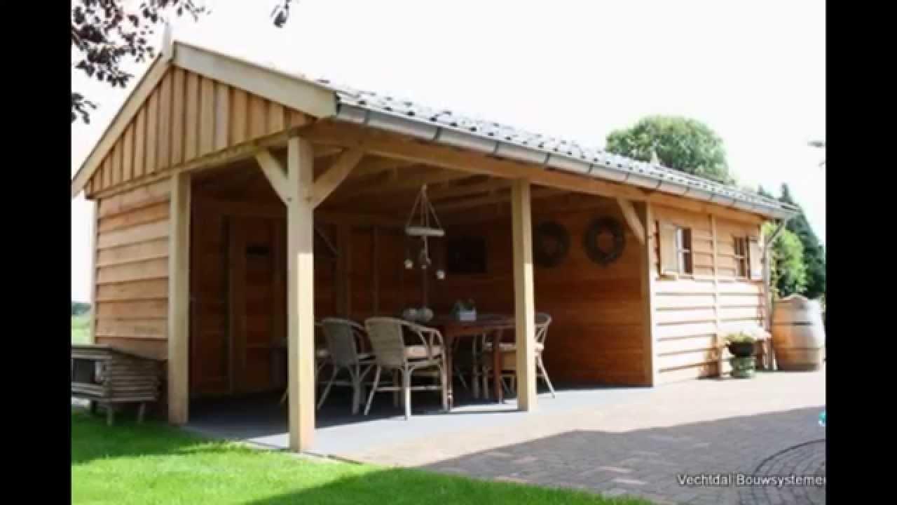 Eiken tuinhuis met veranda 3d ontwerp van vechtdal bouwsystemen youtube - Ontwerp tuinhuis ...