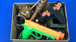 Box of Toys for Kids Toy Guns Military Toys Toy Blasters