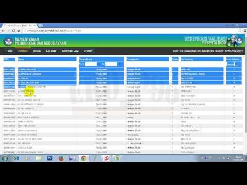 Cara Verval PD, Konfirmasi Data, Copy Data Referensi ke Excel