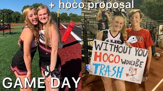GAME DAY VLOG + GETTING ASKED TO HOCO 2019