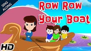 Row Row Row Your Boat (HD) Nursery Rhyme With Lyrics | Children Songs By Shemaroo Kids