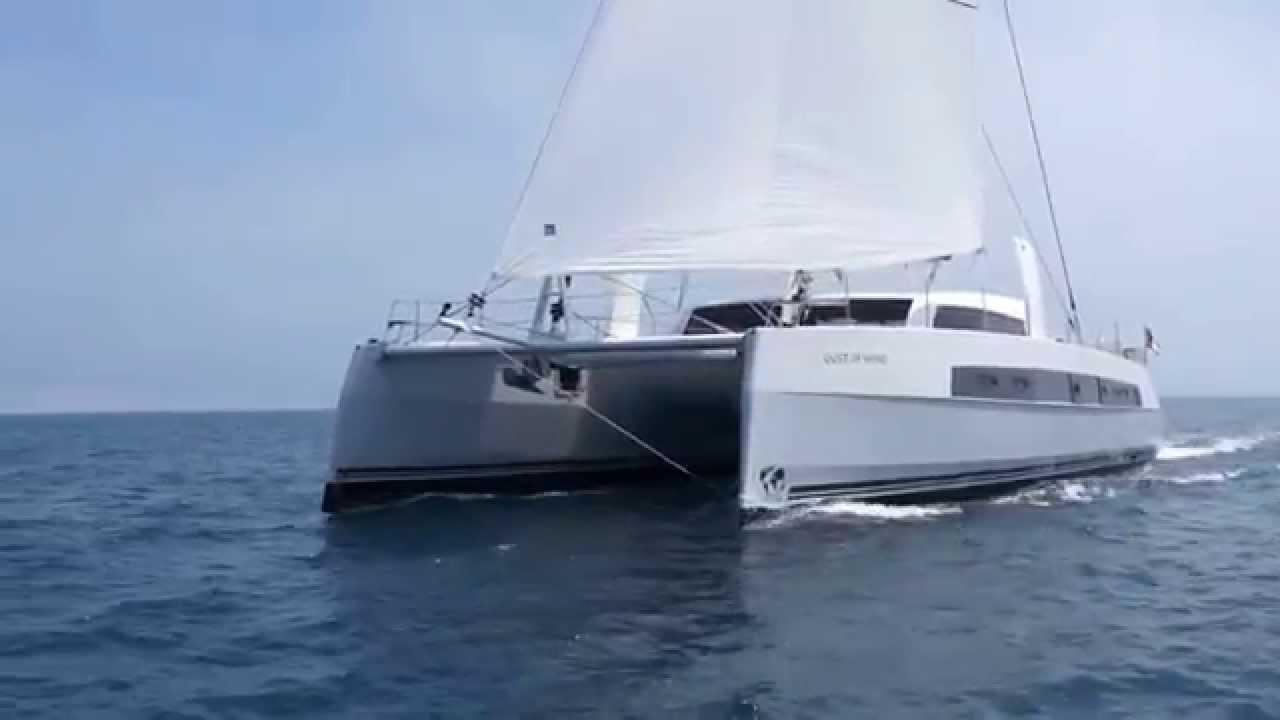 Catana 59 under sail - YouTube