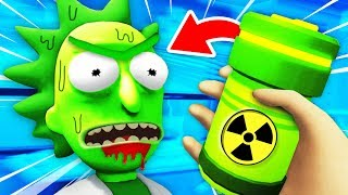 Turning RICK Into TOXIC RICK With SECRET POTION (Rick and Morty: Virtual Rick-Ality VR Gameplay)